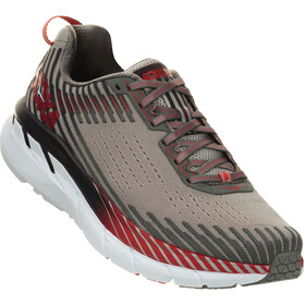 Hoka One One Clifton 5 - Chaussures running Homme - gris/rouge